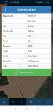ADİLHANDA SATILIK HİSSELİ TARLA 7350M2