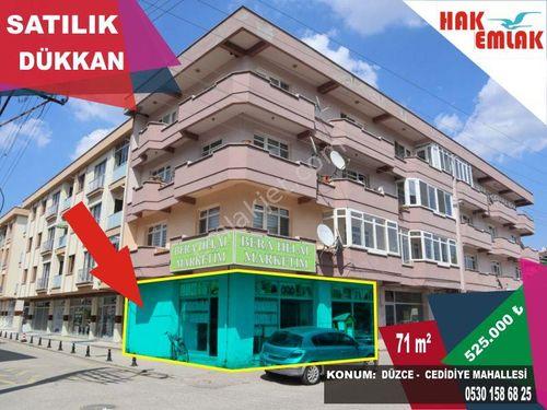 Hak Emlak'tan Cedidiye Mah.'de Satılık 71 m2 Dükkan