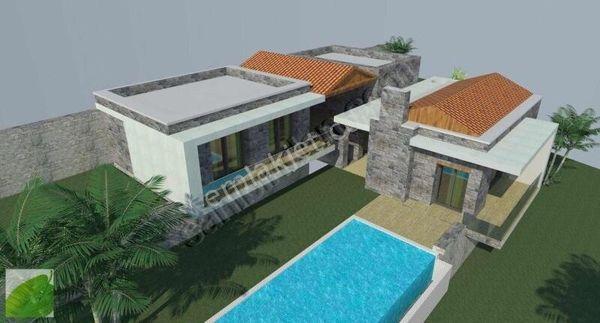 Gümüşlük'te 1.300 m2 Arsa İçinde Tam Müstakil Sıfır Şık Villa