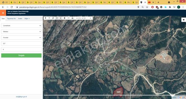 Çanakkale Merkez Kocalar Köyü Mücavir Alana Yakın 13740 m² Arazi