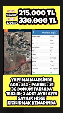 YAPI MAHALLESİNDE ADA 512 - PARSEL 31 36 DÖNÜM TARLADA