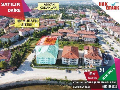 Hak Emlaktan Körpeşler Mah'de Memursen Yanı Satılık 129 m2 Daire