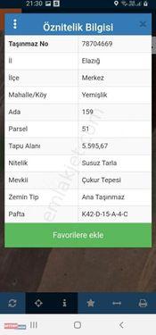YEMİŞLİK 5595 M2 TARLA