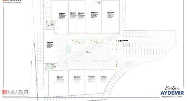 2123- ELFİ den İSTANBUL CAD. BİÇEN PLAZA SATILIK 720 m² DÜKKAN