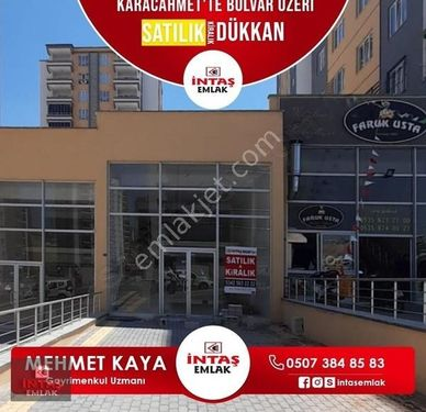 İNTAŞ EMLAK'TAN KARACAAHMET'DE ANA BULVAR ÜZERİ SATLIK DÜKKAN