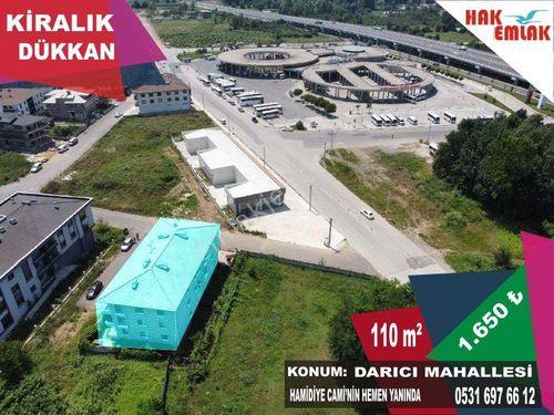Hak Emlak'tan Darıcı Mah.'de Otogar Yanı Kiralık 110 m2 Dükkan