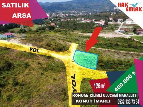 Hak Emlaktan Çilimli Ulucami Mah.de Satılık 1096 m2 Fırsat Arsa