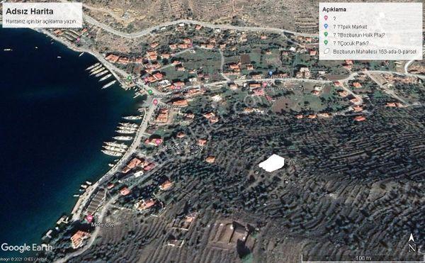 Marmaris Bozburun'da, Deniz Manzaralı Satılık Harika Arsa