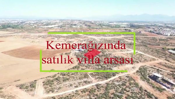 ANTALYA KEMERAĞZINDA TEPEDE 423 m2 İMARLI ARSA